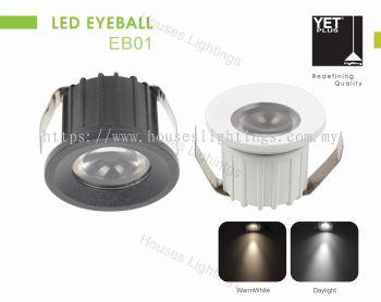 YET EB01 3W WH BK DL/CW/WW LED