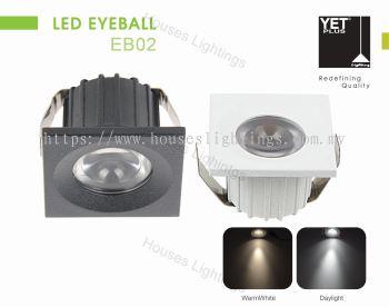 YET EB02 3W WH BK DL/CW/WW LED