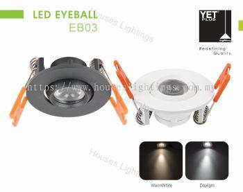 YET EB03 3W WH BK DL/CW/WW LED