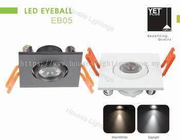 YET EB05 3W WH BK DL/CW/WW LED