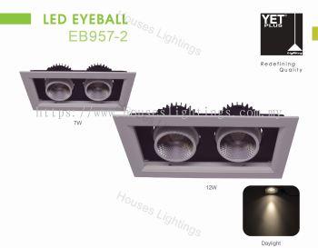 YET EB957-2 2X7W 2X12W WH WW LED
