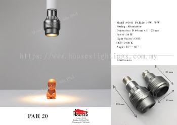DINGS 01011PAR20 10W LED-WW(2700K)(ADJUSTABLE ANGLE)