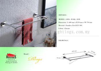 DINGS H006-SCH S.STEEL(SUS304) DOUBLE TOWEL HANGER