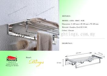 DINGS H007-SCH S.STEEL(SUS304) TOWEL HANGER WF HOOKS (2)