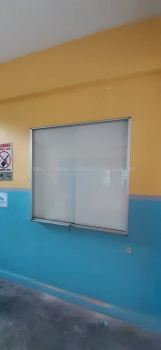 Notice Board Cabinet Sliding Glass