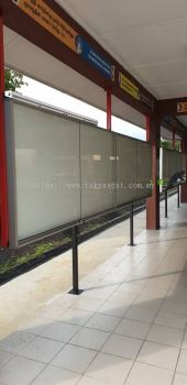 Sliding Glass Notice Board