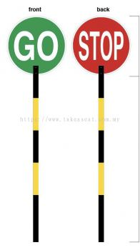 Stop And Go Road Signs