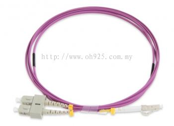 Patch Cord, LC to SC, Duplex LSZH, OM4,  3mtr