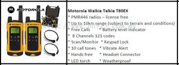 Motorola Walkie Talkie T80EX