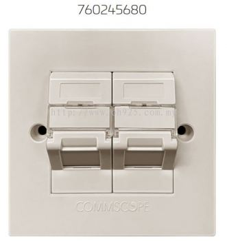 Commscope 2 Port Shuttered Angle Faceplate