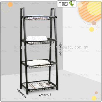 2M Vincenzo 4 Tier Towel Stand Clothes Organiser Rack Storage Rack (Black)