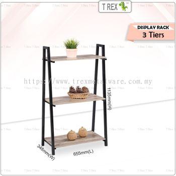 2M MIRO 3 Tier Display Rack / Storage Rack / Display Stand (Black)