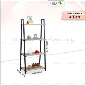 2M MIRO 4 Tier Display Rack / Storage Rack / Display Stand (Black)