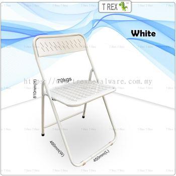 3V IF Steel Folding Chair - White
