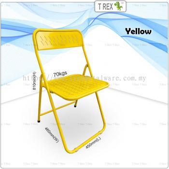 3V IF Steel Folding Chair - Yellow