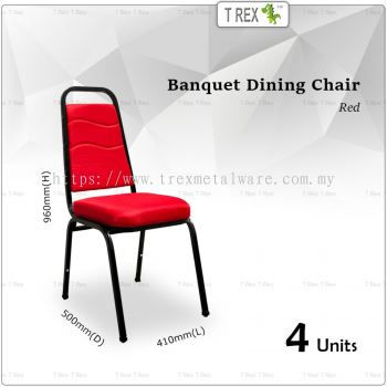 4 Units 3V High Quality Banquet Chair Dining Chair (Red)
