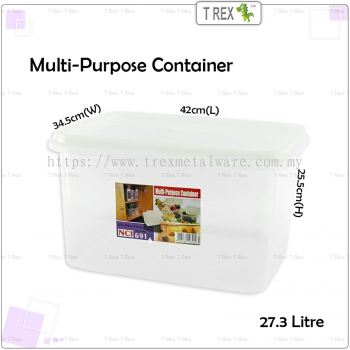 NCI6916 Multipurpose Container / Storage Box with Cover - 27.3 Litre