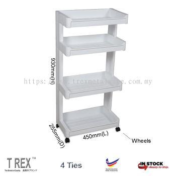 Felton 4 Tier Kitchen Storage Rack / Bathroom Rack / Trolley Rack
