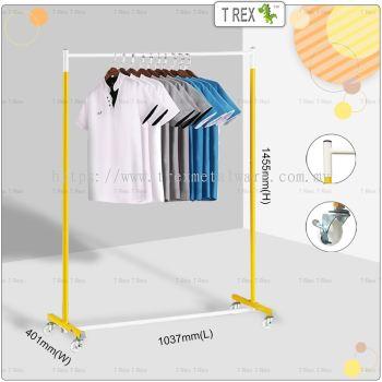 [PREMIUM QUALITY] Clothes Hanger Rack (Yellow White Mixed)