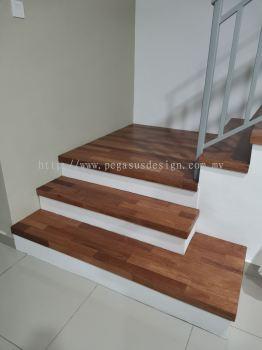 merbau wood stair