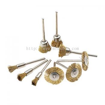 MK-WEL-13013 MINI BRASS WIRE CUP BRUSH WITH SHANK
