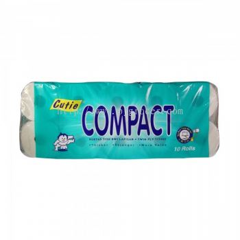 Cutie Compact Toilet Roll 10's