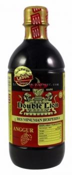 KHH Double Lion Bes Minuman Berperisa Anggur 495ml