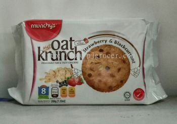 Munchy's Oat Krunch Strawberry& Blackcurrant 208g