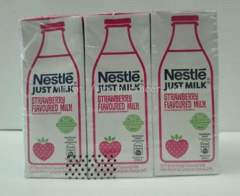Nestle Just Milk Strawberry Flavoured Milk (200ml x6)