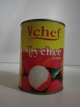 Vchef Whole Lychee 565gm