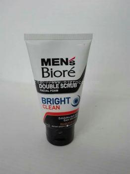 Men's Biore Double Scrub Bright Clean 50gm