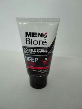 Men's Biore Double Scrub Facial Foam Deep Clean 50gm