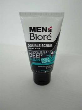 Men's Biore Double Scrub Deep Clean Exrra Cool 50gm