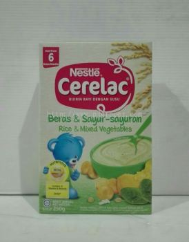 Nestle Cerelac Rice & Mixed Vegetables 250g