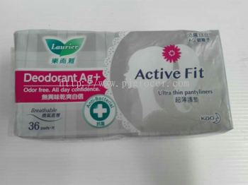 Laurier Deodorant Ag+ Active Fit 36's