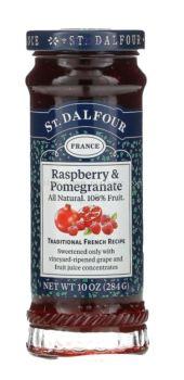 ST.DALFOUR JAM RASPBERRY&POMEGRANATE FRUIT 284G