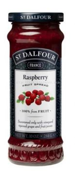 ST.DALFOUR JAM RASPBERRY FRUIT 284G