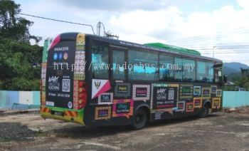 Bus Body Wrapping @ Whats About Kuching