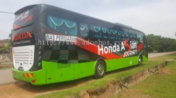 Bus Body Wrapping @ Honda Asia Journey 2018