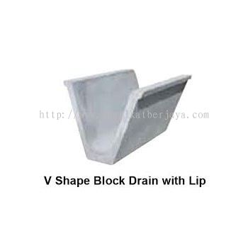 V SHAPE BLOCK DRAIN