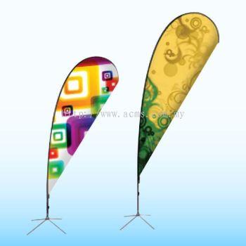 Tear Drop Shape Flag-SF5B & 3B