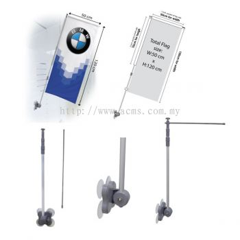 X Stand Series-Mirror Flag Stand-BWS Pg1