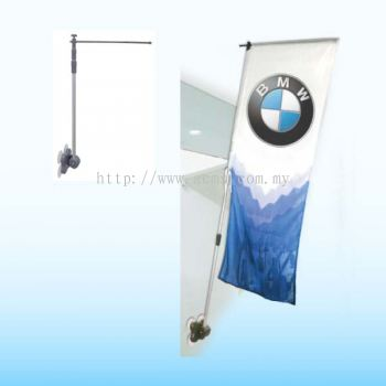 Mirror Flag Stand-BWS
