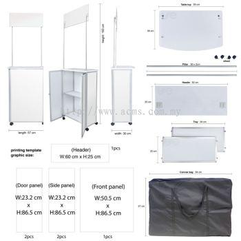Aluminium Sampling Slim Booth (TSB2)