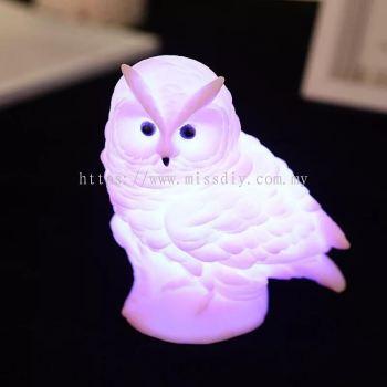 01587, Cute Owl lamp