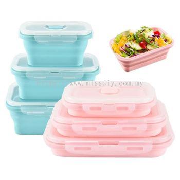 01762, 500ml foldable lunch box