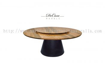 Beige Marble Dining Table Set