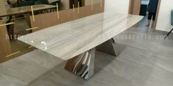 Grey Marble Dining Table - Palisandro Marble