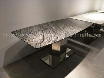 6 people Marble Dining Table Set