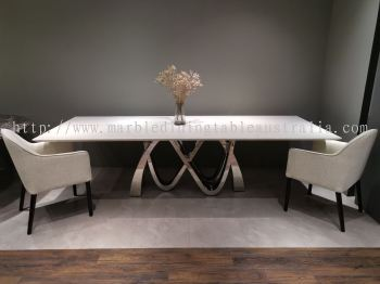 Luxury marble dining table | stain free